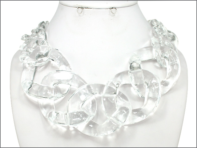 necklace kenneth link clear jay lane p prod lucite mu